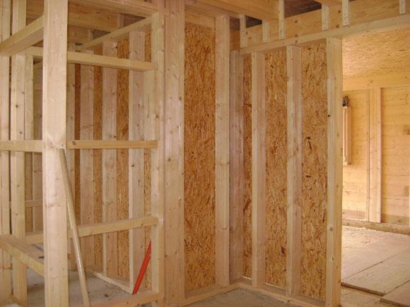 Etapes d 39 une construction bois la maison du bois for Cloison interieure bois